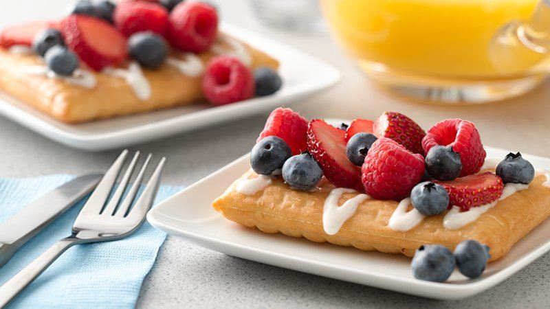 Breakfast Fruit Pizza Strudel