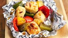 Grilled Pineapple-Chicken Kabob Packets Recipe