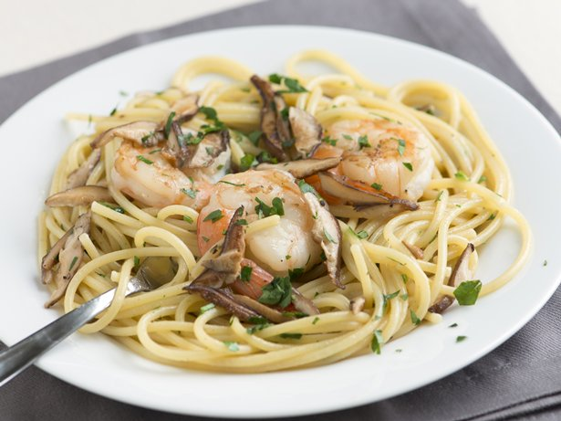 Shrimp and Pasta with Mushrooms