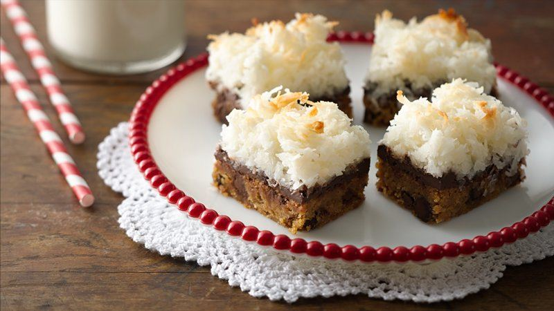 Brown Butter Blondies with Macaroon Topping