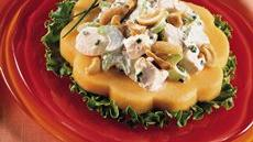 Chicken Salad on Melon Rings Recipe