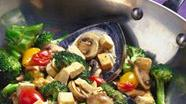 Stir-Fried Broccoli and Mushrooms with Tofu