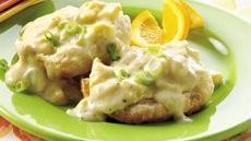 Creamy Swiss Eggs on Biscuits Recipe