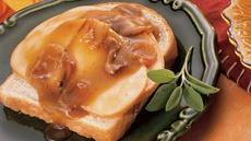 Hot Turkey and Gravy Open-Faced Sandwiches Recipe