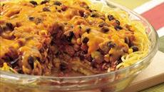 Southwestern Spaghetti Pie Recipe