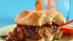Onion-Smothered Barbecued Turkey Burgers