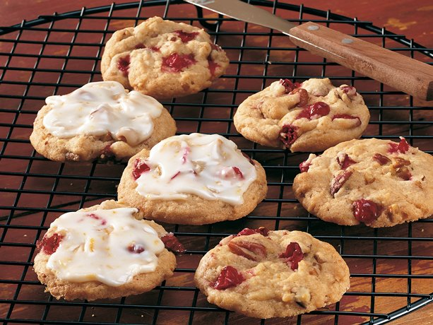 ... flavor combo of orange and cranberry in a frosted homemade cookie