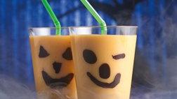Gluten Free Chilling Jack o Lantern Smoothies