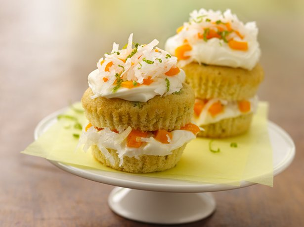 Mango-Jalapeo Cupcake Stacks