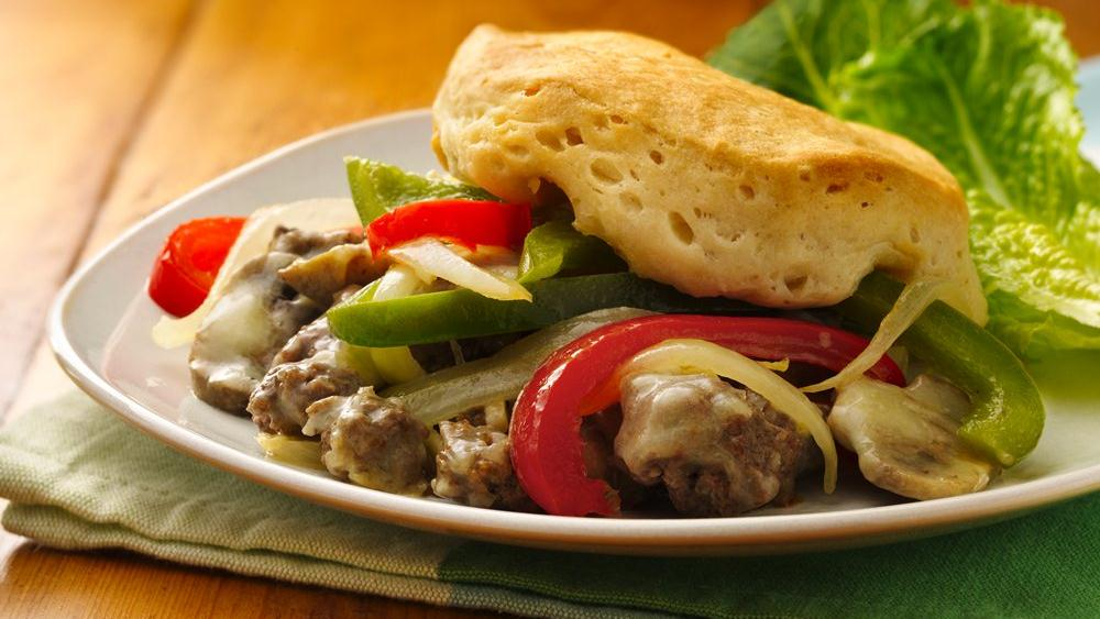 Philly Cheese and Ground Beef Casserole