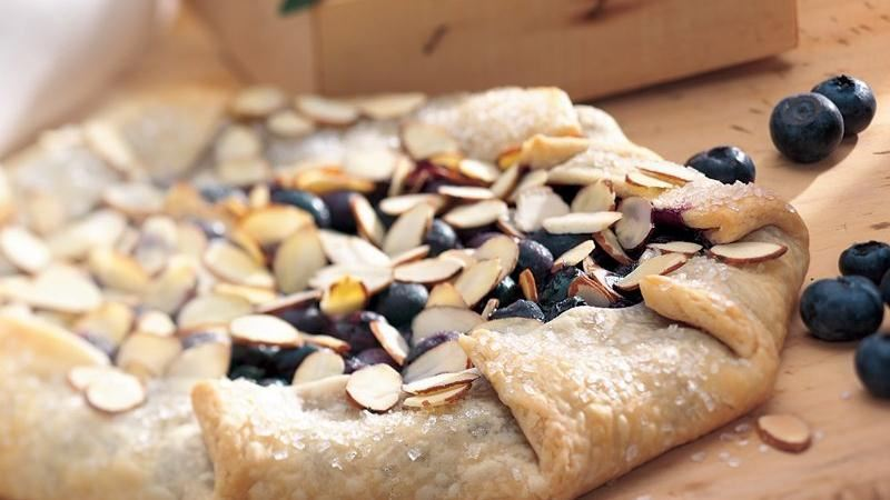 Fresh Blueberry Almond Tart