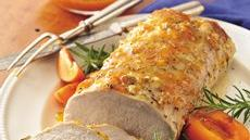 Pork Loin with Apricot-Rosemary Glaze Recipe