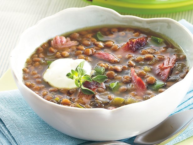 Slow Cooker Smoked Turkey-Lentil Soup