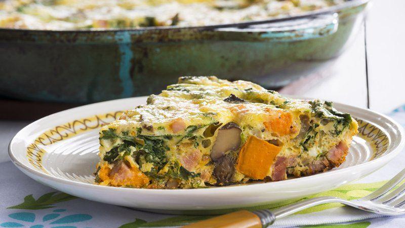 Sweet Potato and Kale Frittata recipe from Betty Crocker