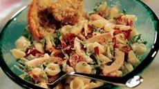 Turkey Club Pasta Salad with Lemon-Basil Dressing Recipe