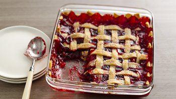 Apple-Raspberry Cobbler