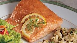 Simple Honey-Glazed Salmon and Rice