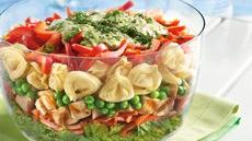 Layered Tortellini Pesto Chicken Salad Recipe