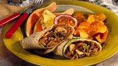 Hoisin-Cranberry-Turkey Wraps Recipe