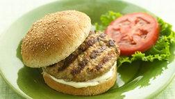 Savory Turkey Burgers with Garlicky Mayonnaise