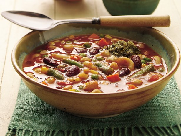 Slow Cooker Two-Bean Minestrone
