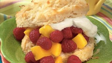 Raspberry-Mango Shortcakes
