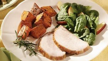 Apple-Glazed Pork Roast with Sweet Potatoes