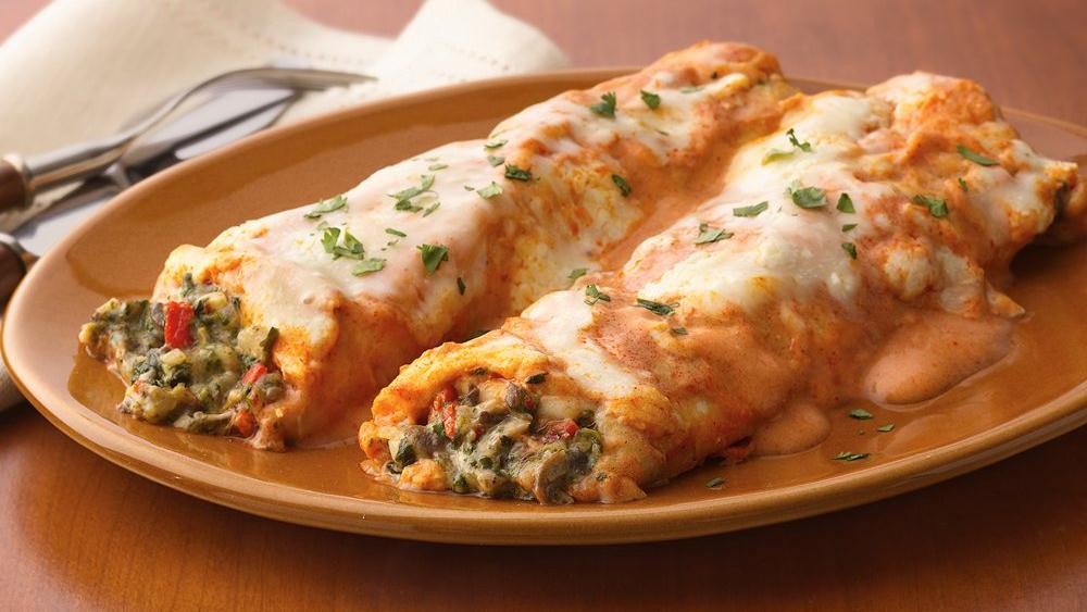 Vegetarian Enchiladas Griegos With Spinach + Feta Recipes — Dishmaps