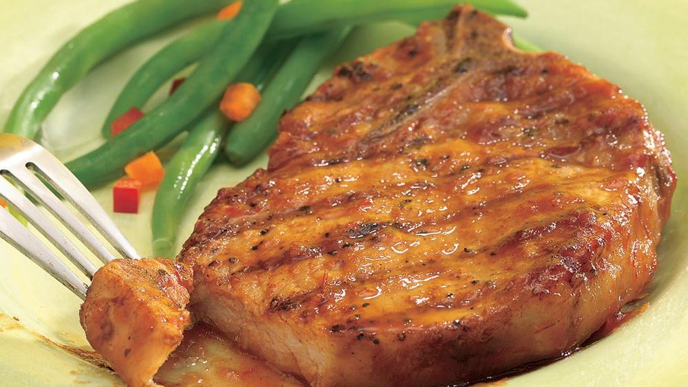 Glazed Sweet and Sour Grilled Pork Chops
