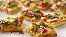 Caramelized Onion and Peppered Bacon Flatbread Recipe