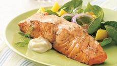 Grilled Salmon with Fresh Lime Cream Recipe
