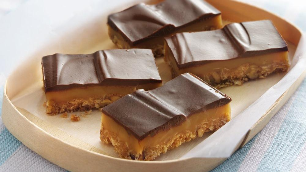 Chocolate Truffle-Topped Caramel Bars