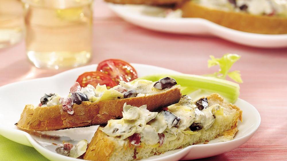 Grilled Artichoke Bruschetta