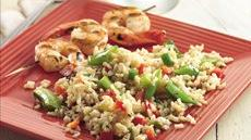 Bulgur Pilaf with Pea Pods Recipe