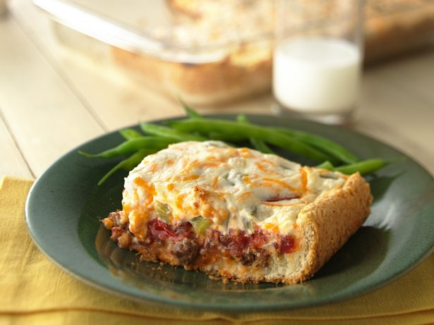 Cheesy Tomato-Beef Bake