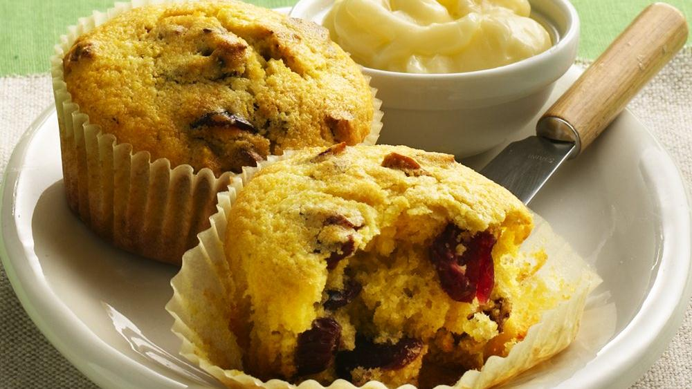 Cranberry-Cornmeal Muffins