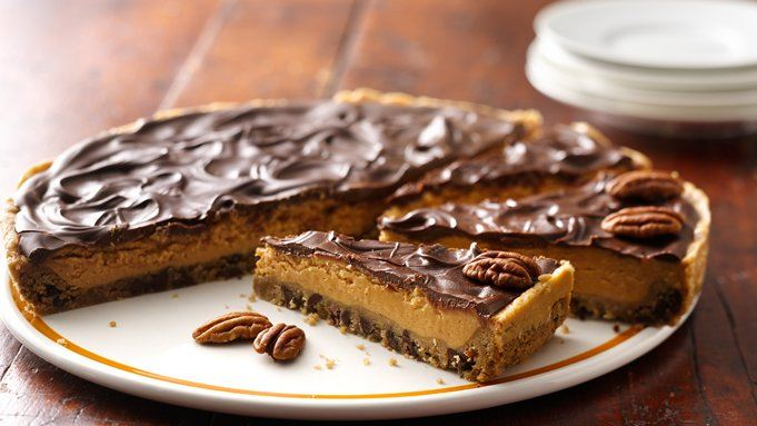 Chocolate-Peanut Butter Cookie Pie recipe - from Tablespoon!