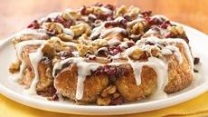 Mascarpone-Filled Cranberry-Walnut Rolls Recipe