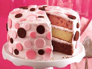 Neapolitan Confetti Cake
