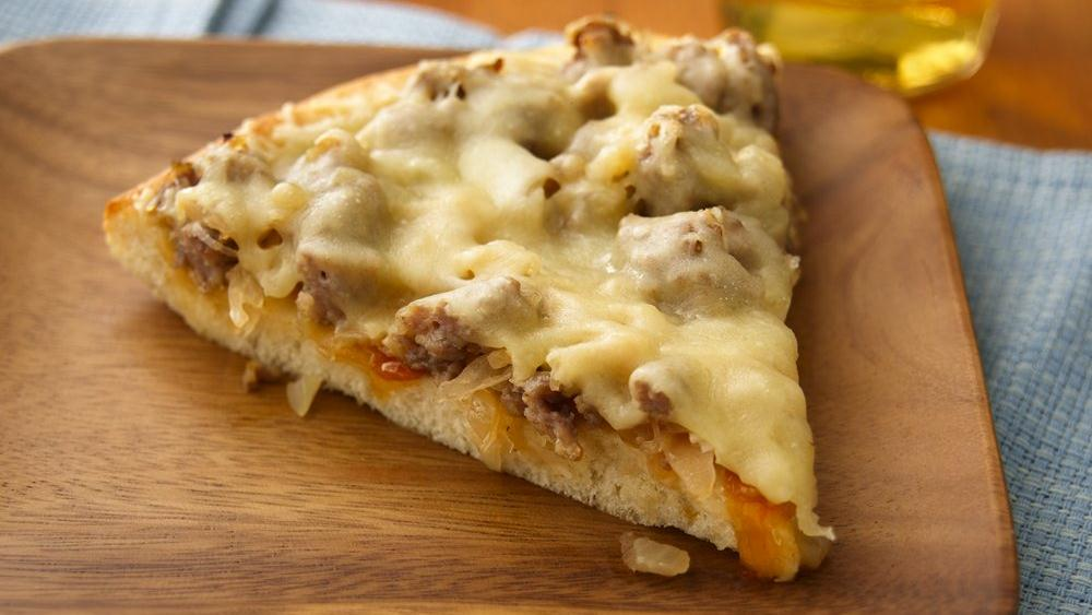 Sausage & Sauerkraut Pizza Recipe — Dishmaps