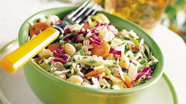 Crunchy Cabbage and Chick Pea Salad