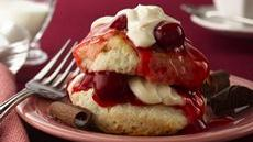 Cherry Valentine Shortcakes Recipe