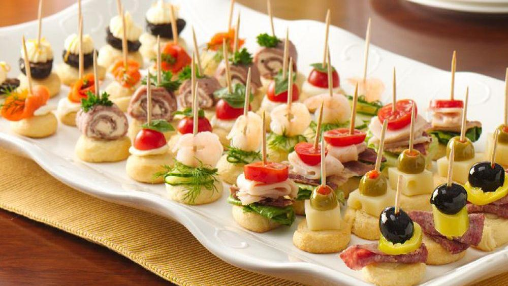 Mini apps recipe from for Canape plate definition