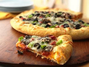 Stuffed-Crust Pepperoni Pizza
