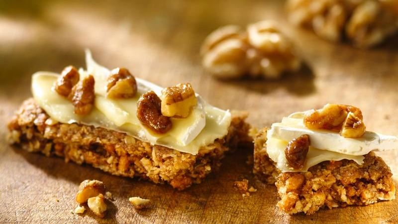 Brie and Candied Nuts Granola Bars