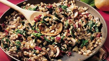 Spinach-Barley Risotto