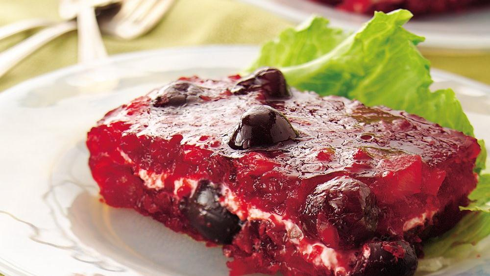 Cherry-Cream Cheese Layered Gelatin Salad