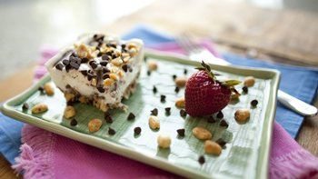 Gluten-Free Chocolate Peanut Butter Frozen Yogurt Dessert Bars