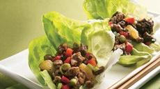 Teriyaki Beef and Pineapple Lettuce Wraps Recipe