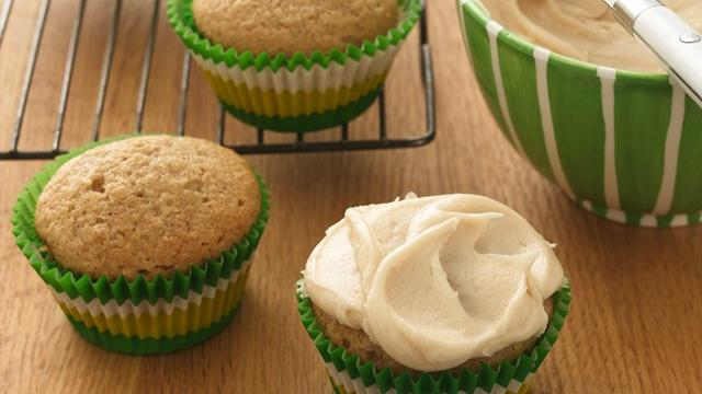 Image of Applesauce Cupcakes With Browned Butter Frosting, Pillsbury